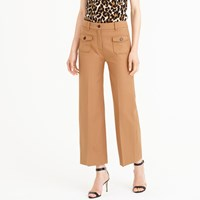 J.Crew Wide Leg Pant With Patch Pockets