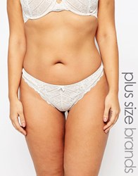 Marie Meili Curves Pailey Thong Ivory White