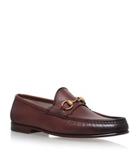 Gucci Horsebit Leather Loafers Male Brown