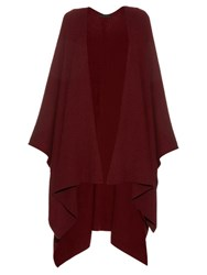 The Row Cappeto Cashmere Cape Red