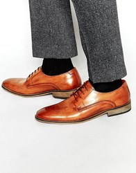 Base London Sussex Leather Derby Shoes Tan