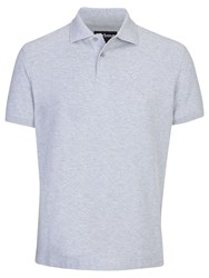 Barbour Sports Cotton Short Sleeve Polo Shirt Grey Marl