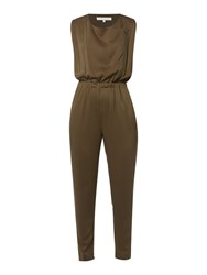 Gray And Willow Eskil Zip Front Jumpsuit Khaki