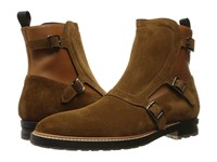 Alexander Mcqueen Gable 3 Buckle Boot Saddle Men's Boots Brown