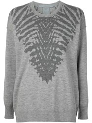 Raquel Allegra Zebra Print Sweater Grey