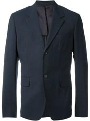 Our Legacy 'Control' Single Breasted Fitted Blazer Blue