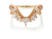 Fernando Jorge Women's Diamond Clear Topaz And Rose Gold Fusion Wave Ring No Color