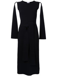 Scanlan Theodore Crepe Trapeze Dress Black