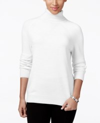 Karen Scott Petite Turtleneck Sweater Only At Macy's Luxsoft White