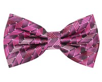 Double Two Patterned Bow Tie Red
