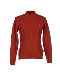 Oliver Spencer Knitwear Turtlenecks Men Brick Red