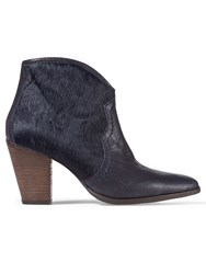 Jigsaw Cara Textured Side Zip Boot Navy