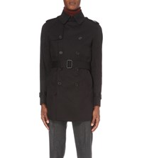 Sandro Magneticknit Cotton Trench Coat Black