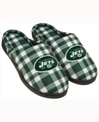 Forever Collectibles New York Jets Flannel Slide Slippers Green