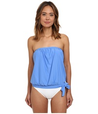 Athena Cabana Solids Soft Cup Bandini Top Corn Flower Women's Swimwear Blue