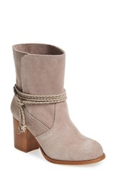 Splendid Women's 'Larchmonte' Ankle Tie Bootie Taupe Suede
