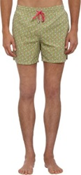 Roda Elephant Print Swim Trunks Green