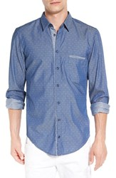Boss Orange Men's 'Cieloebu' Dobby Chambray Woven Shirt
