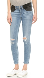 Citizens Of Humanity Avedon Skinny Maternity Ankle Jeans Distressed Bombay