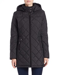 Weatherproof Quilted Faux Fur Lined Coat Black