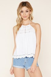 Forever 21 Lace Paneled Halter Top