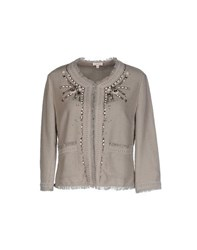 P.A.R.O.S.H. Suits And Jackets Blazers Women Light Grey