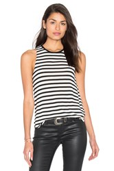 Splendid Stripe Tank Black And White