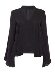 Endless Rose Long Sleeved Cut Out Blouse Black