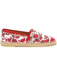 Philipp Plein 'Village' Espadrilled Red