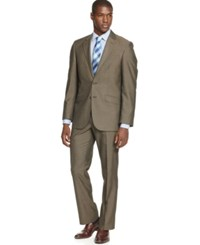 Unlisted By Kenneth Cole Brown Pindot Slim Fit Suit