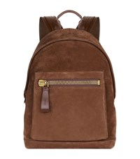 Tom Ford Buckley Suede Backpack Unisex Brown