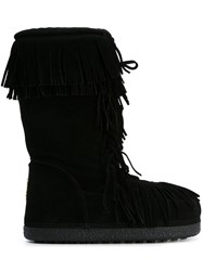 Aquazzura 'Boho' Lace Up Boots Black