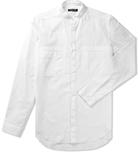 Optic White Sable Stand Up Collar Shirt