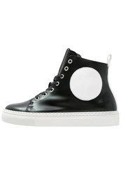 Mcq By Alexander Mcqueen Chris Hightop Trainers Black White