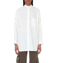 Helmut Lang Open Back Cotton Shirt White
