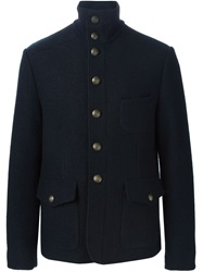 Dolce And Gabbana Military Jacket Blue