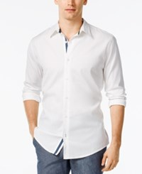 Weatherproof Ryan Seacrest Distinction Rio Collection Oxford Shirt Only At Macy's White