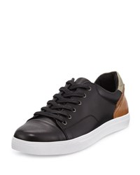 English Laundry Hatch Leather Lace Up Sneaker Black