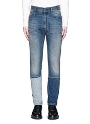 Maison Martin Margiela Slim Fit Vintage Wash Panelled Jeans Blue
