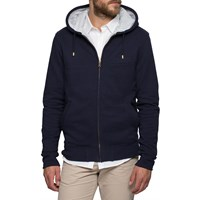 L'estrange Navy Grey Stripe Hoodie Blue
