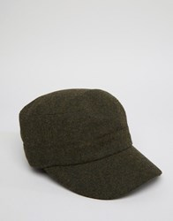 Fred Perry Wool Drivers Cap Green