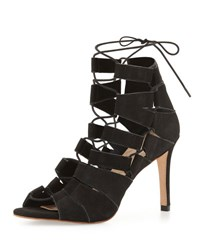 Loeffler Randall Lottie Nubuck Lace Up Sandal Black
