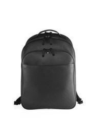Montblanc Solid Leather Backpack Black