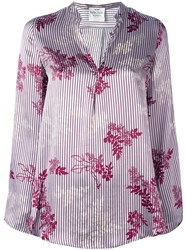 Forte Forte 'Japanese Garden' Shirt Pink And Purple