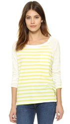 Splendid Sunfaded Stripe Long Sleeve Tee Limonada