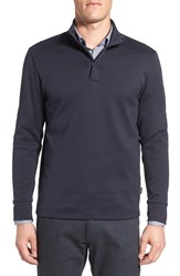 Boss Men's 'Sidney' Regular Fit Quarter Zip Pullover Navy