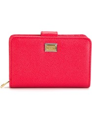Dolce And Gabbana 'Dauphine' Wallet Pink And Purple