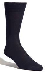 Men's Lorenzo Uomo Merino Wool Blend Socks Blue 3 For 30 Navy