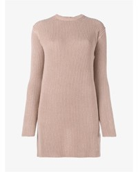Valentino Open Back Ribbed Cashmere Sweater