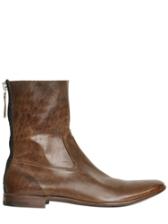 Premiata Brushed Horse Leather Boots Brown